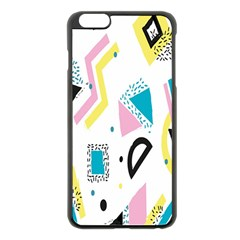 Design Elements Illustrator Elements Vasare Creative Scribble Blobs Yellow Pink Blue Apple iPhone 6 Plus/6S Plus Black Enamel Case