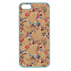 Deer Cerry Animals Flower Floral Leaf Fruit Brown Apple Seamless iPhone 5 Case (Color)