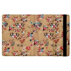 Deer Cerry Animals Flower Floral Leaf Fruit Brown Apple iPad 2 Flip Case
