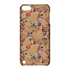 Deer Cerry Animals Flower Floral Leaf Fruit Brown Apple iPod Touch 5 Hardshell Case with Stand