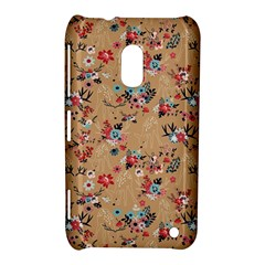 Deer Cerry Animals Flower Floral Leaf Fruit Brown Nokia Lumia 620