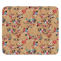 Deer Cerry Animals Flower Floral Leaf Fruit Brown Double Sided Flano Blanket (Small)