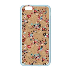 Deer Cerry Animals Flower Floral Leaf Fruit Brown Apple Seamless iPhone 6/6S Case (Color)