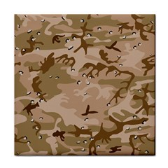 Desert Camo Gulf War Style Grey Brown Army Tile Coasters