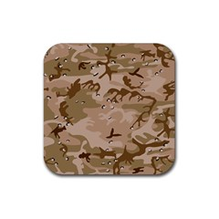 Desert Camo Gulf War Style Grey Brown Army Rubber Square Coaster (4 pack)