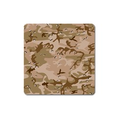 Desert Camo Gulf War Style Grey Brown Army Square Magnet
