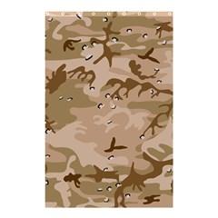 Desert Camo Gulf War Style Grey Brown Army Shower Curtain 48  x 72  (Small)