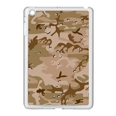 Desert Camo Gulf War Style Grey Brown Army Apple iPad Mini Case (White)