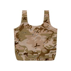 Desert Camo Gulf War Style Grey Brown Army Full Print Recycle Bags (S)