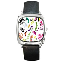 Design Elements Illustrator Elements Vasare Creative Scribble Blobs Square Metal Watch