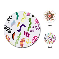 Design Elements Illustrator Elements Vasare Creative Scribble Blobs Playing Cards (Round)