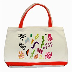Design Elements Illustrator Elements Vasare Creative Scribble Blobs Classic Tote Bag (Red)