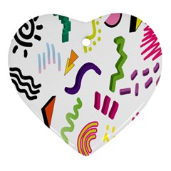 Design Elements Illustrator Elements Vasare Creative Scribble Blobs Heart Ornament (Two Sides)