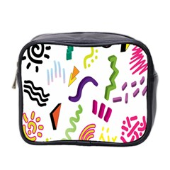 Design Elements Illustrator Elements Vasare Creative Scribble Blobs Mini Toiletries Bag 2-Side