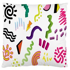 Design Elements Illustrator Elements Vasare Creative Scribble Blobs Large Cushion Case (Two Sides)