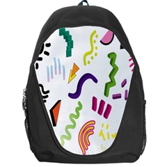 Design Elements Illustrator Elements Vasare Creative Scribble Blobs Backpack Bag
