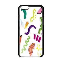 Design Elements Illustrator Elements Vasare Creative Scribble Blobs Apple iPhone 6/6S Black Enamel Case