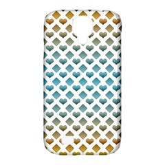 Diamond Heart Card Purple Valentine Love Blue Yellow Gold Samsung Galaxy S4 Classic Hardshell Case (PC+Silicone)