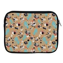 Deer Cerry Animals Flower Floral Leaf Fruit Brown Black Blue Apple iPad 2/3/4 Zipper Cases