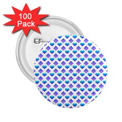 Diamond Heart Card Purple Valentine Love Blue 2.25  Buttons (100 pack)