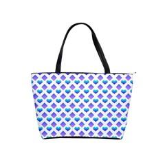 Diamond Heart Card Purple Valentine Love Blue Shoulder Handbags