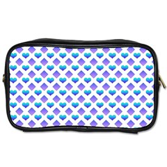 Diamond Heart Card Purple Valentine Love Blue Toiletries Bags