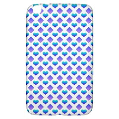 Diamond Heart Card Purple Valentine Love Blue Samsung Galaxy Tab 3 (8 ) T3100 Hardshell Case
