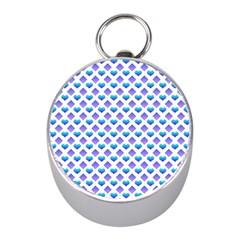 Diamond Heart Card Purple Valentine Love Blue Mini Silver Compasses