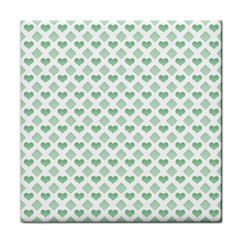 Diamond Heart Card Purple Valentine Love Blue Green Tile Coasters