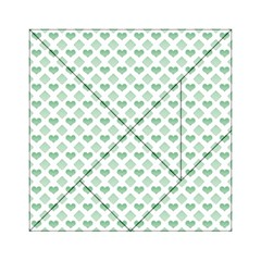 Diamond Heart Card Purple Valentine Love Blue Green Acrylic Tangram Puzzle (6  x 6 )
