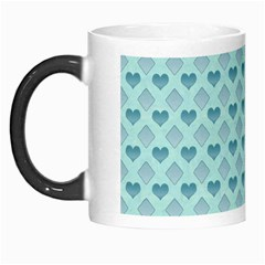 Diamond Heart Card Valentine Love Blue Morph Mugs