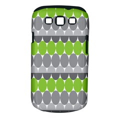 Egg Wave Chevron Green Grey Samsung Galaxy S III Classic Hardshell Case (PC+Silicone)