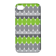 Egg Wave Chevron Green Grey Apple iPhone 4/4S Hardshell Case with Stand