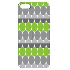 Egg Wave Chevron Green Grey Apple iPhone 5 Hardshell Case with Stand