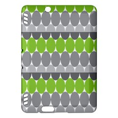 Egg Wave Chevron Green Grey Kindle Fire HDX Hardshell Case
