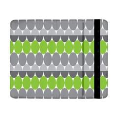 Egg Wave Chevron Green Grey Samsung Galaxy Tab Pro 8.4  Flip Case
