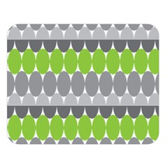 Egg Wave Chevron Green Grey Double Sided Flano Blanket (Large)