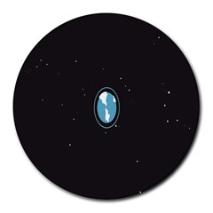 Earth Universe Natural Space Galaxy Round Mousepads