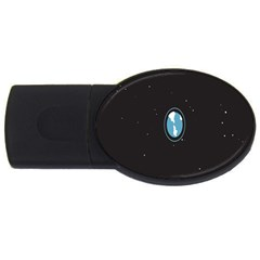 Earth Universe Natural Space Galaxy USB Flash Drive Oval (4 GB)