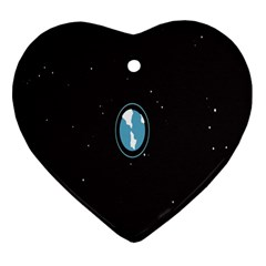 Earth Universe Natural Space Galaxy Heart Ornament (Two Sides)