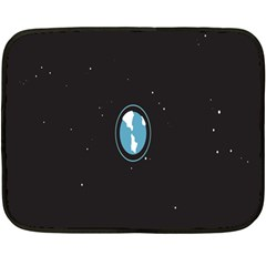 Earth Universe Natural Space Galaxy Fleece Blanket (Mini)