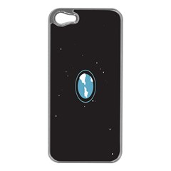 Earth Universe Natural Space Galaxy Apple iPhone 5 Case (Silver)