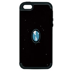 Earth Universe Natural Space Galaxy Apple iPhone 5 Hardshell Case (PC+Silicone)