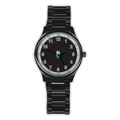 Earth Universe Natural Space Galaxy Stainless Steel Round Watch
