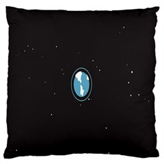 Earth Universe Natural Space Galaxy Large Flano Cushion Case (One Side)
