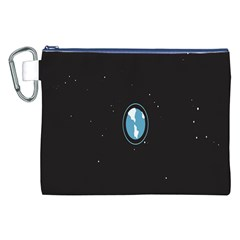Earth Universe Natural Space Galaxy Canvas Cosmetic Bag (XXL)