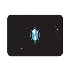 Earth Universe Natural Space Galaxy Double Sided Flano Blanket (Mini)