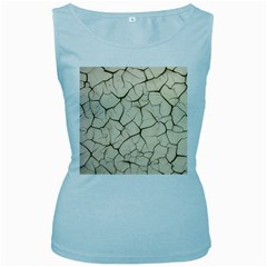 Drought Soil Land Women s Baby Blue Tank Top