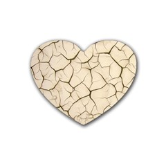 Drought Soil Land Heart Coaster (4 pack)