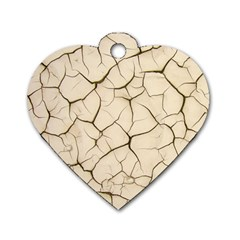 Drought Soil Land Dog Tag Heart (Two Sides)